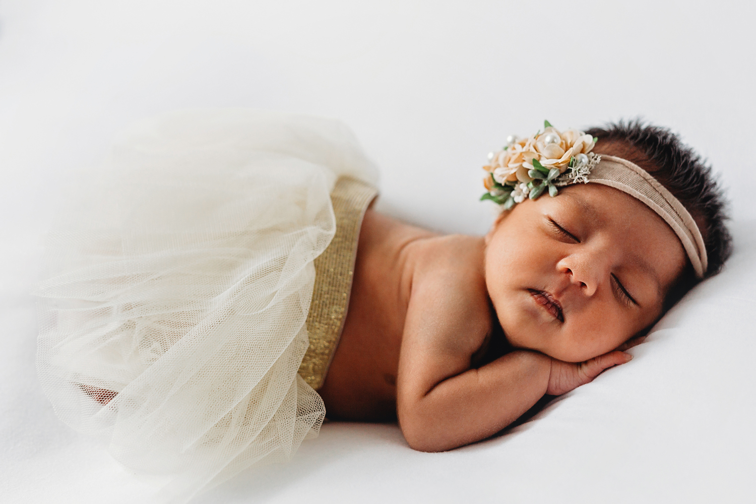 newborn photography in rutherford new jersey of a baby in a tutu