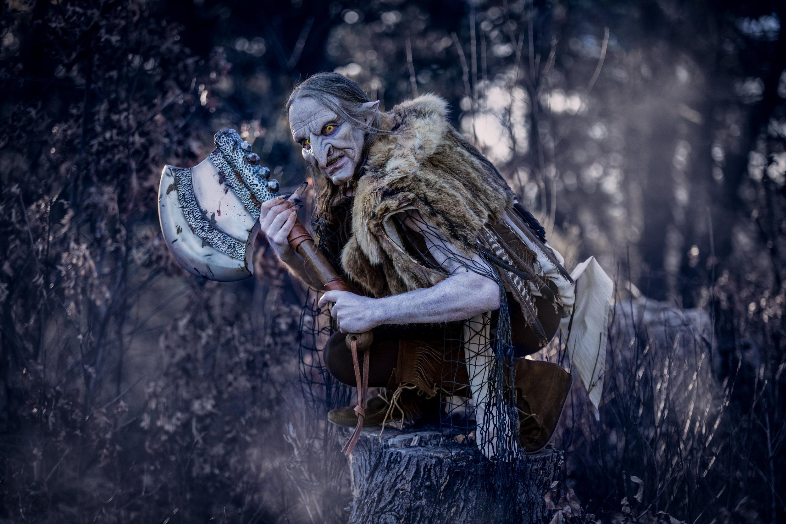 Model: Paul Clough  Costume by: Ebony Amber  Axe Prop by: Carol Martin