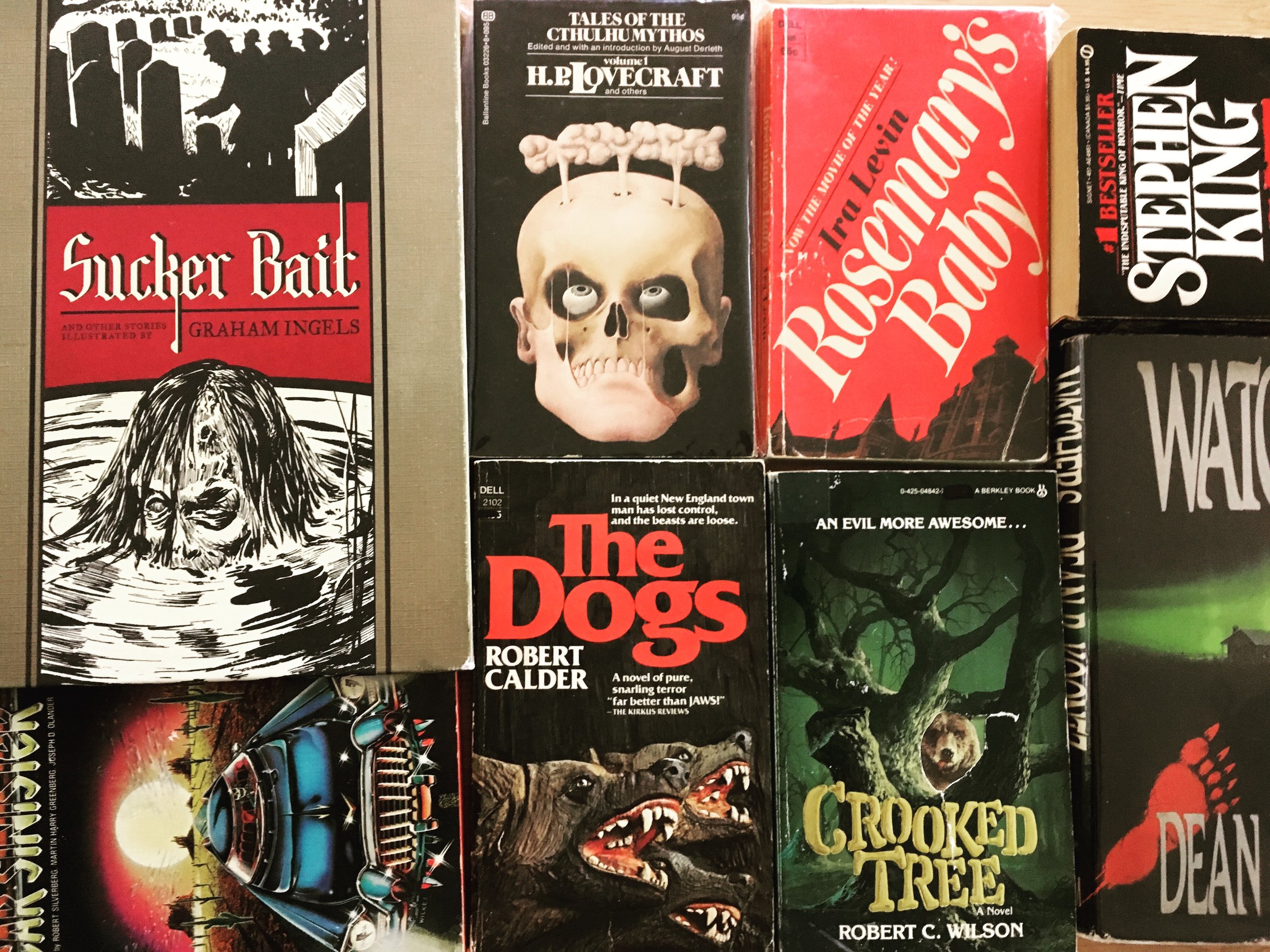 """Samples from a workshop for the Macon Writers Group, """"A Brief History of Horror Publishing."""""""
