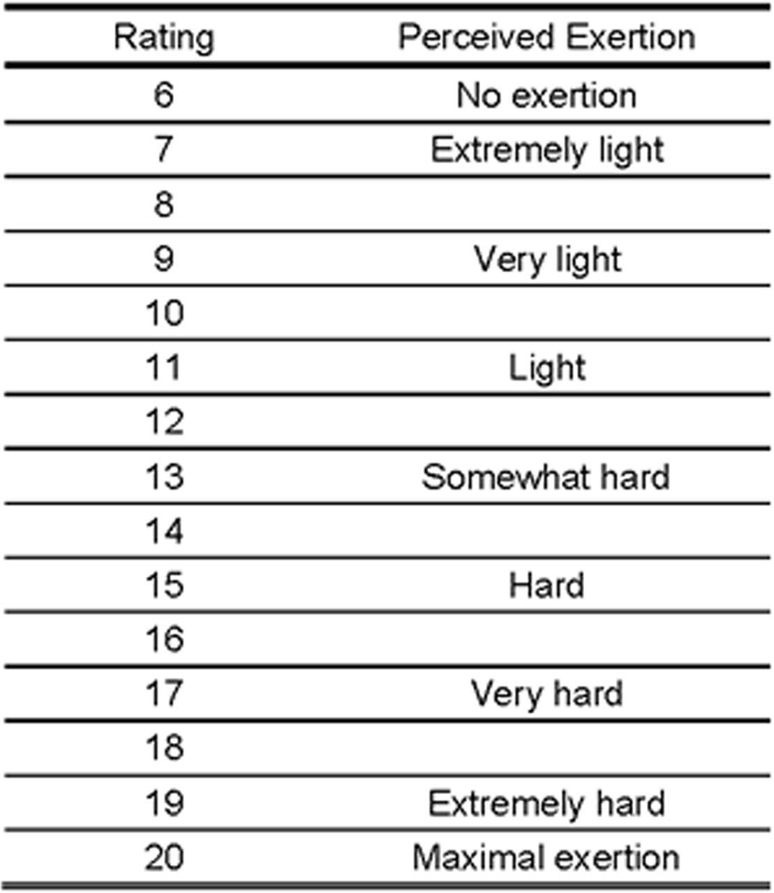 The Borg Scale