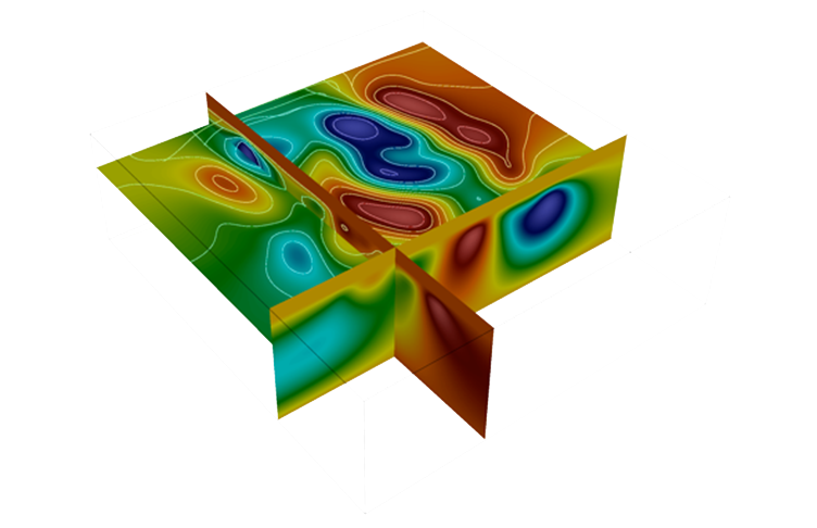 Results for three-dimensional inversion of gravity anomaly data in esys-Escript.
