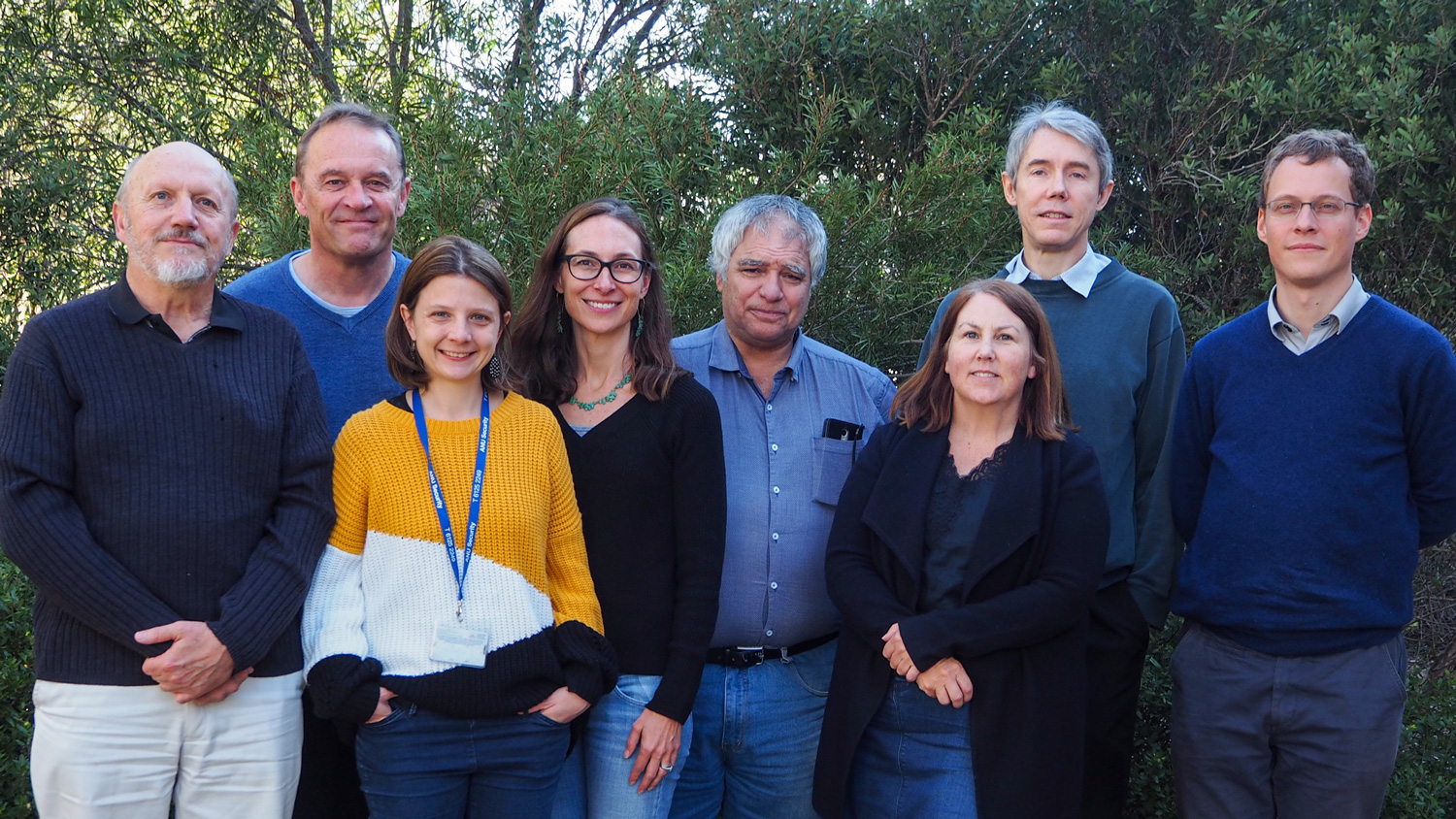 AusPass team left to right: Dr Herb McQueen, Prof Malcolm Sambridge, Dr Julia Pfeffer, As Prof Meghan Miller, Armando Arcidiaco, Dr Michelle Salmon, Dr Julian Byrne and Dr Sebastien Allgeyer. Image: Dr Michelle Salmon.