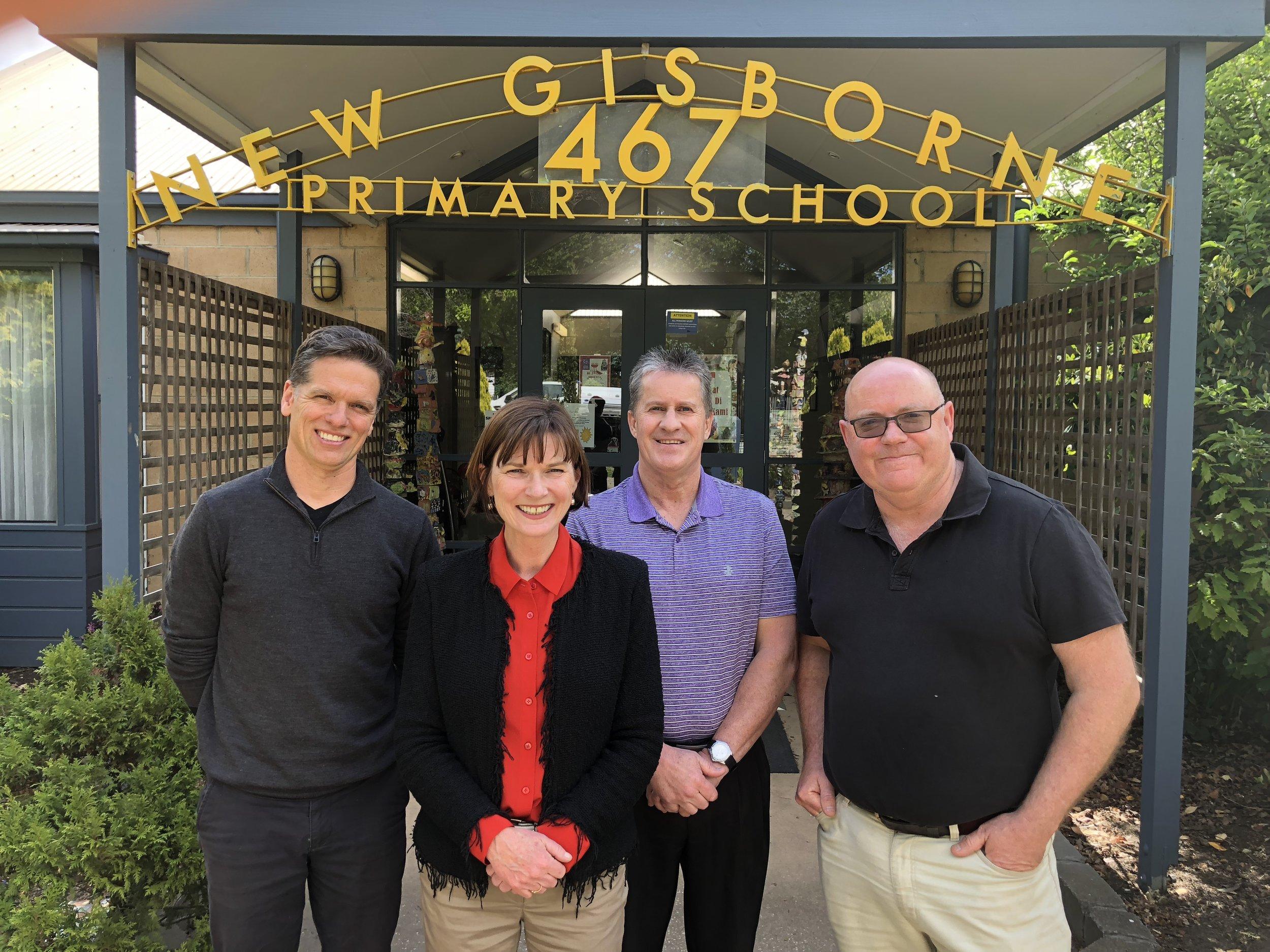 Al Reid (MRSG), Mary-Anne Thomas, Andy Kozak (Principal), and Peter Lane (MRSG).