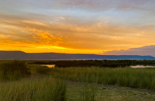 Sunset at the Summer Lake Hot Springs Resort