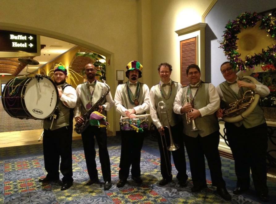 Mardi Gras Band in Louisiana, 2013