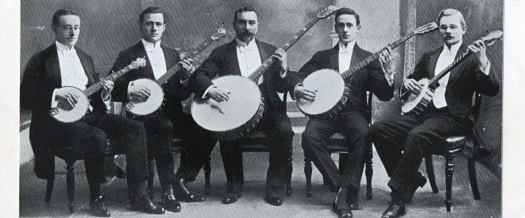 Typical banjo orchestra