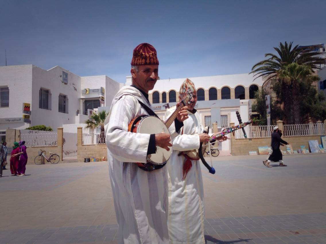 Street Musicians of Essaouira - This walled windy city has it all: Gnaoua, Jimi Henrix, and roaming bands of banjo-playing Berber street musicians