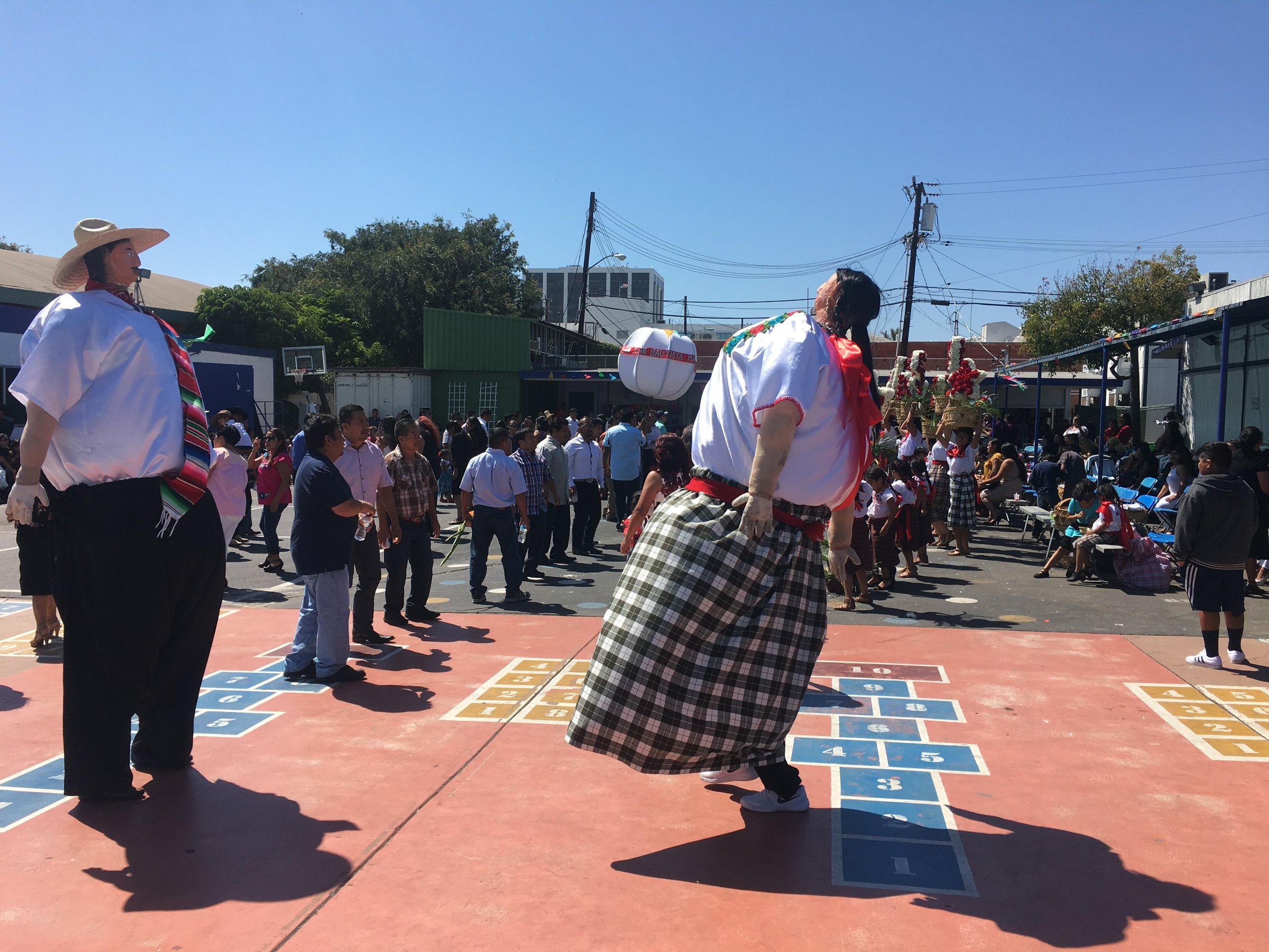 Oaxaca Brass Band and Traditional Festival in LA - Balkan-sounding Mexican Tambora Oaxaqueña in Santa Monica for a religious festival