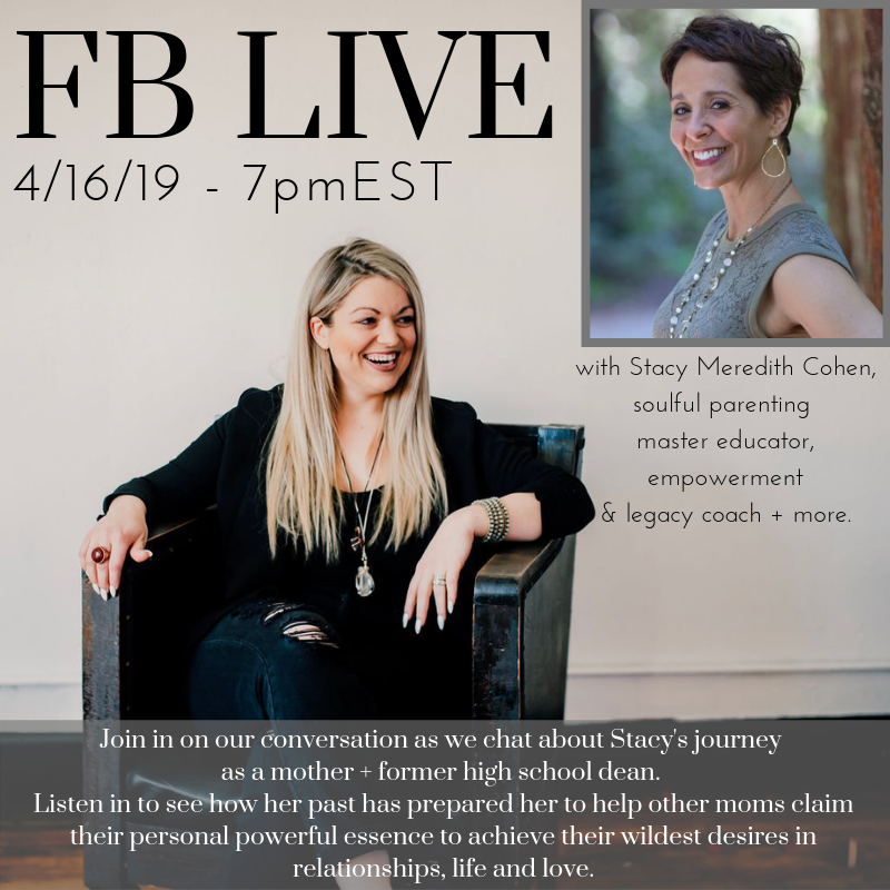 On April 16, 2019, Becca interviewed Stacy about her life, her experiences as a mother and more.  Tune in to hear what advice this former high school dean would give her 22 year-old pregnant self!