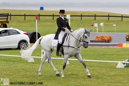 CCI***: NZL-Donna Smith (BALMORAL SENSATION) 2012 NZL-Puhinui International 3 Day Event (Friday): CCI*** DRESSAGE-INTERIM: 1ST (46.4pts) (2nd is Annabel Wigley on NRM FROG ROCK with 55pts)