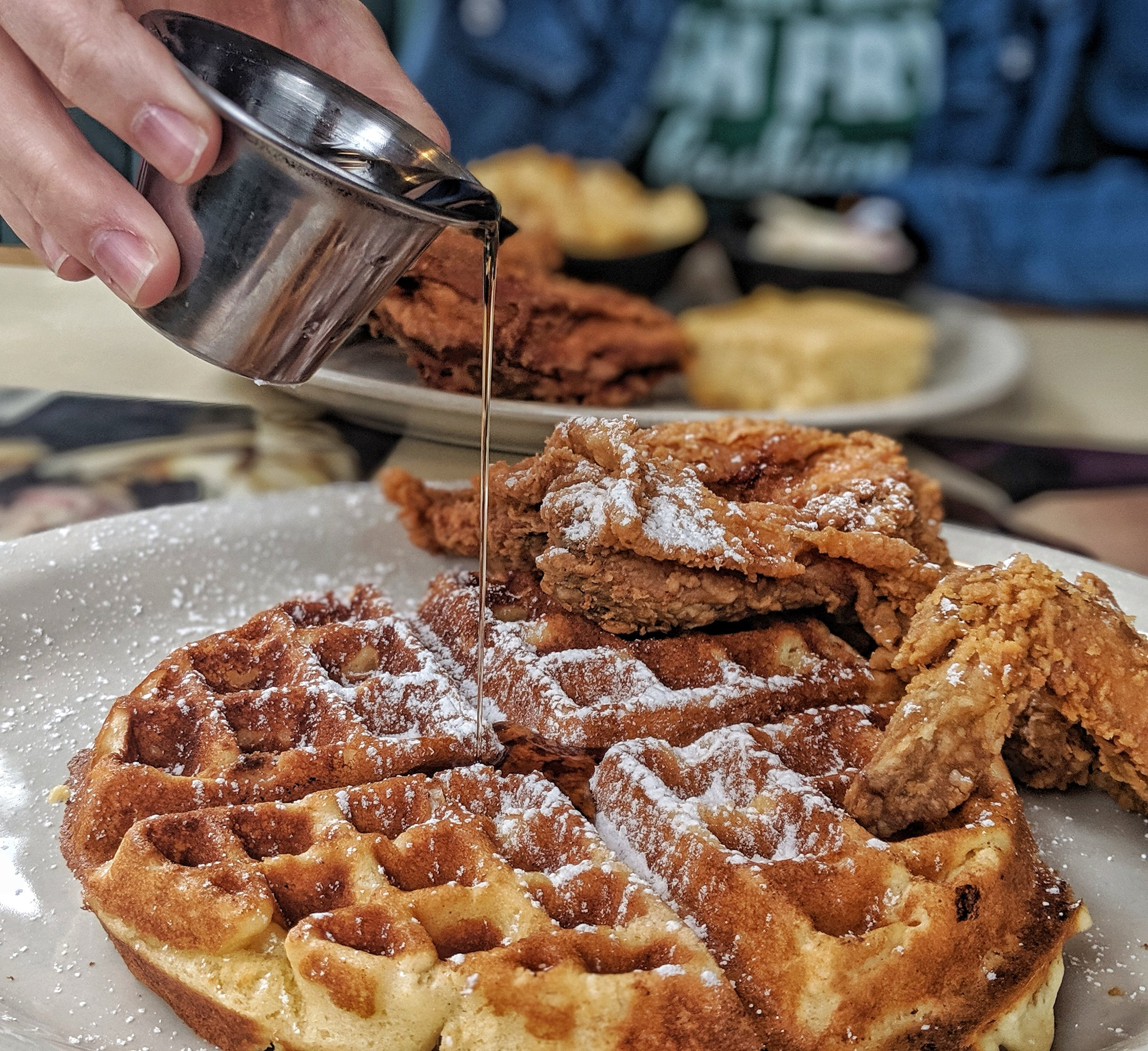 - Chicken & Waffles from The Cozy Corner Soul Food Diner