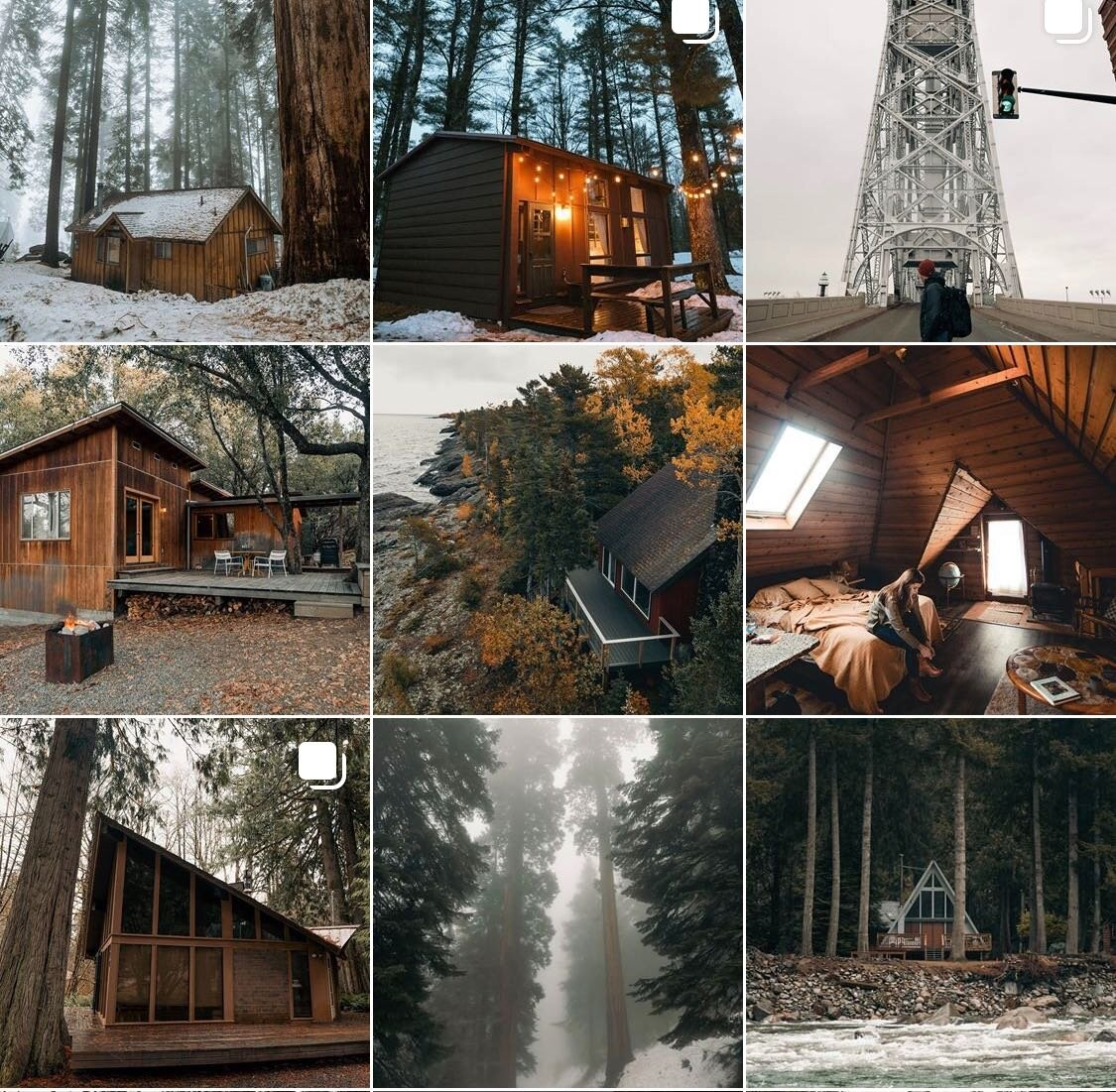 Small Salted Cabin Collage