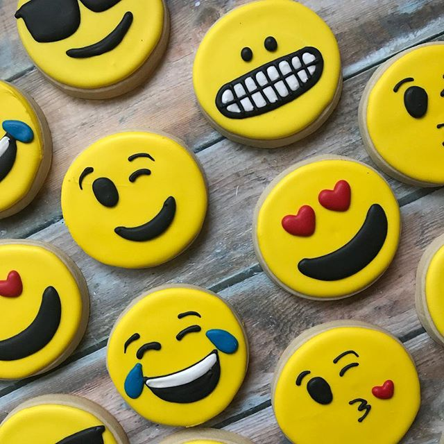 It's world emoji day! Bringing back this happy set to celebrate 😬😊😉😍😘 #worldemojiday