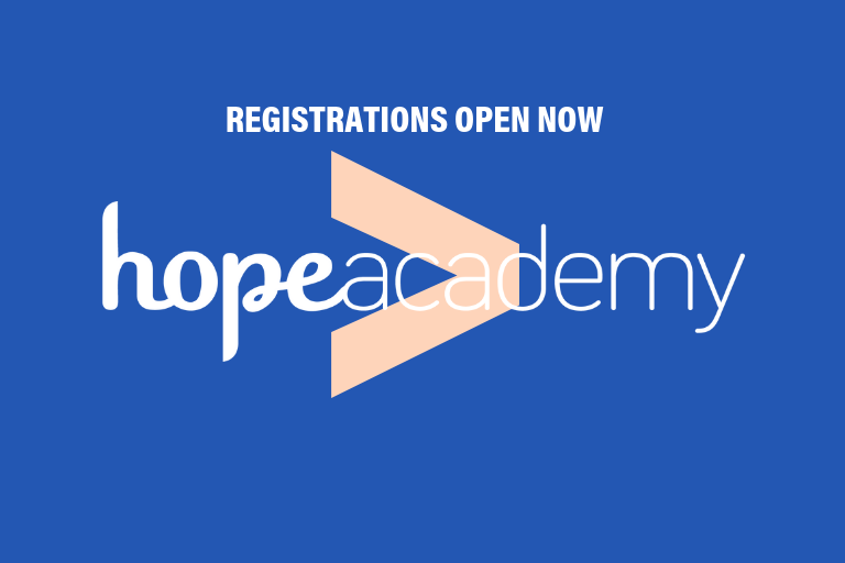 Hope Academy - registrations open now!