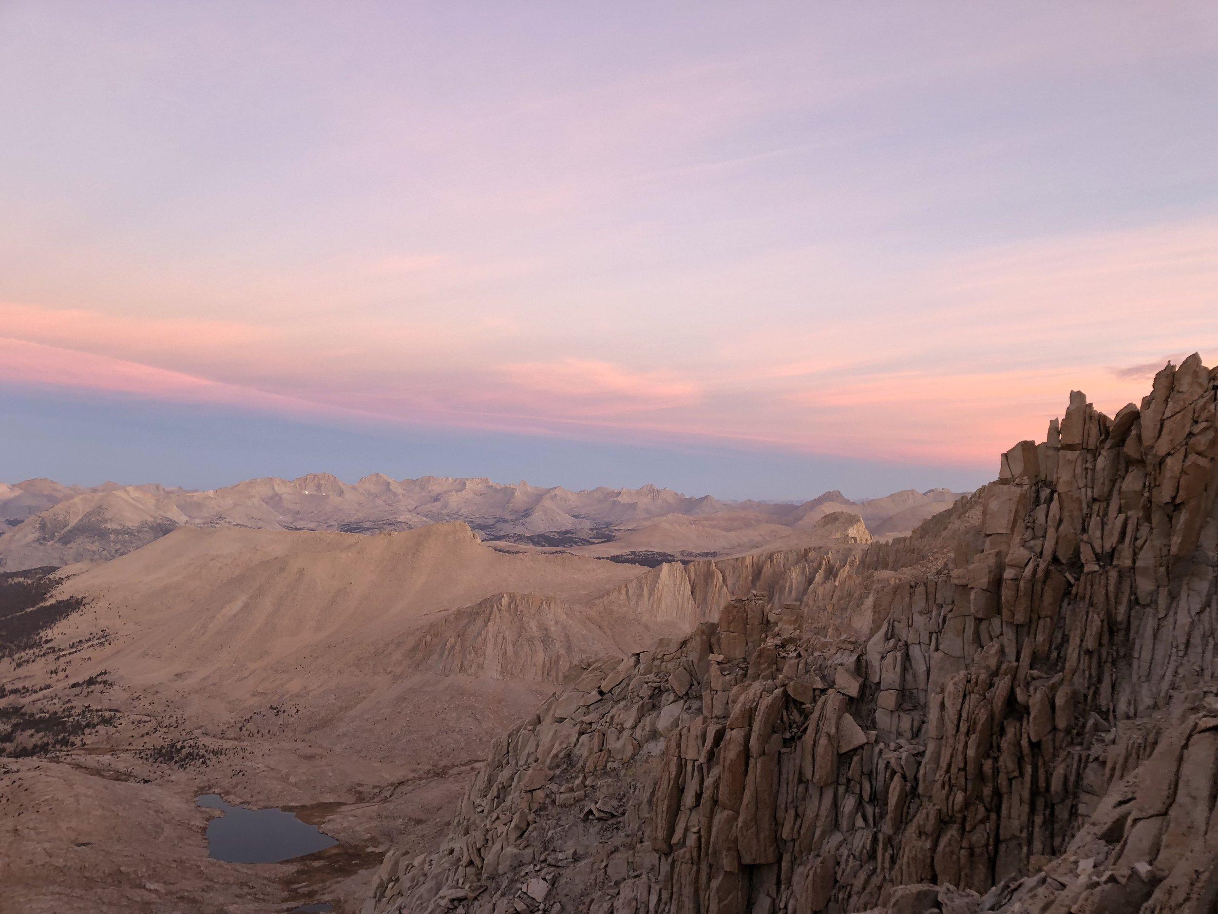 Sunrise on the way to Mt. Whitney