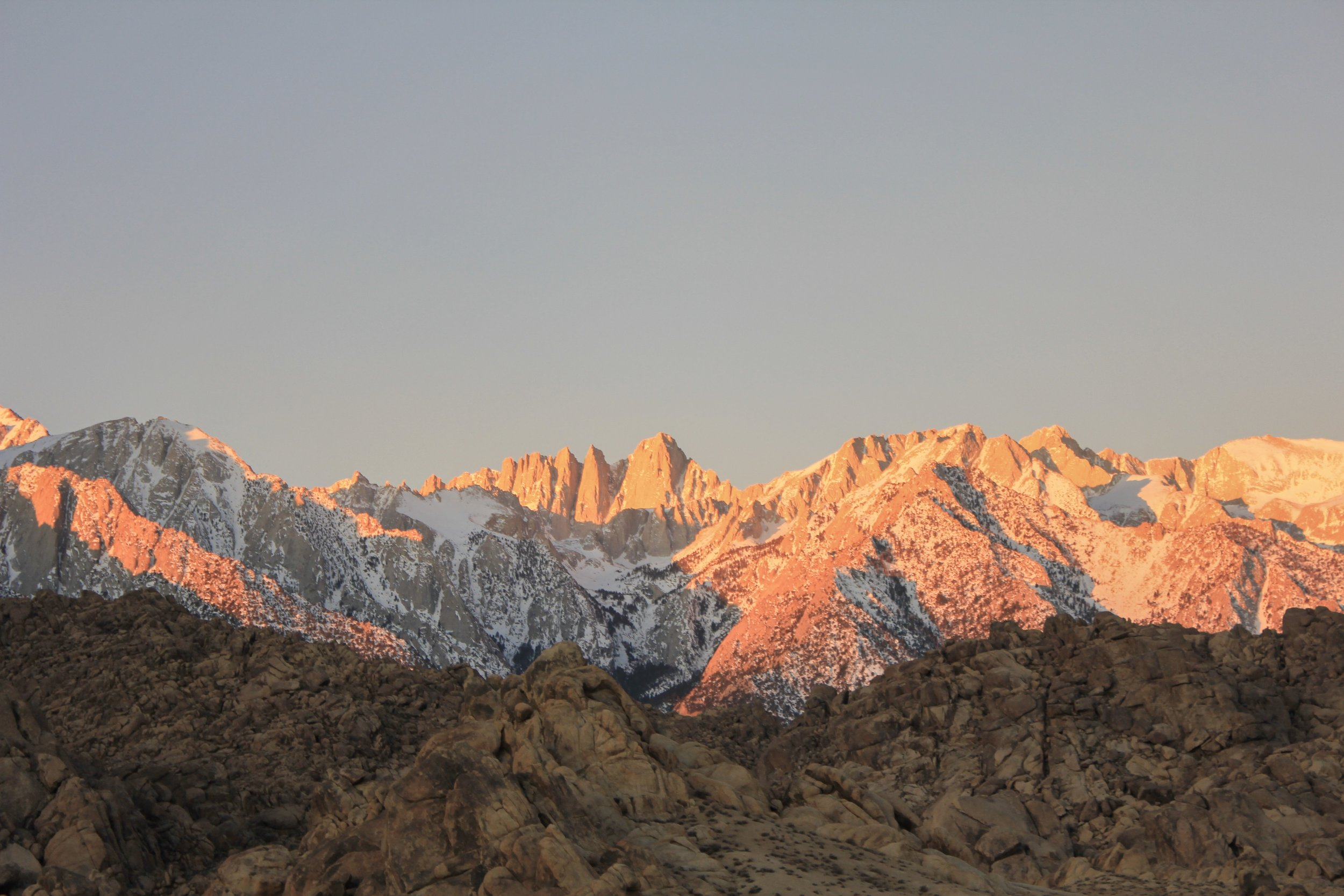 Sunrise over Mt. Whitney from Alabama Hills