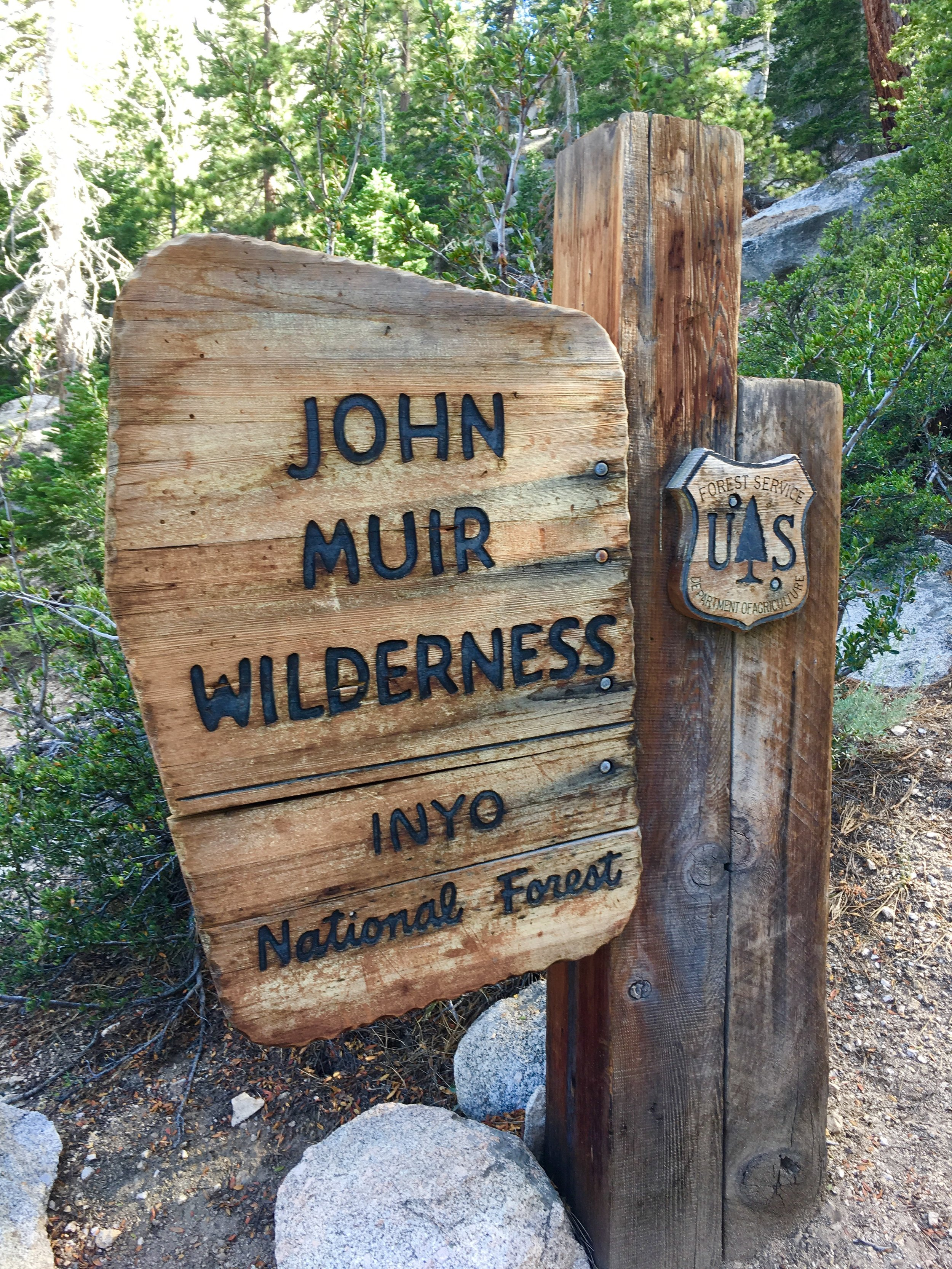 John Muir Wilderness sign on the trail