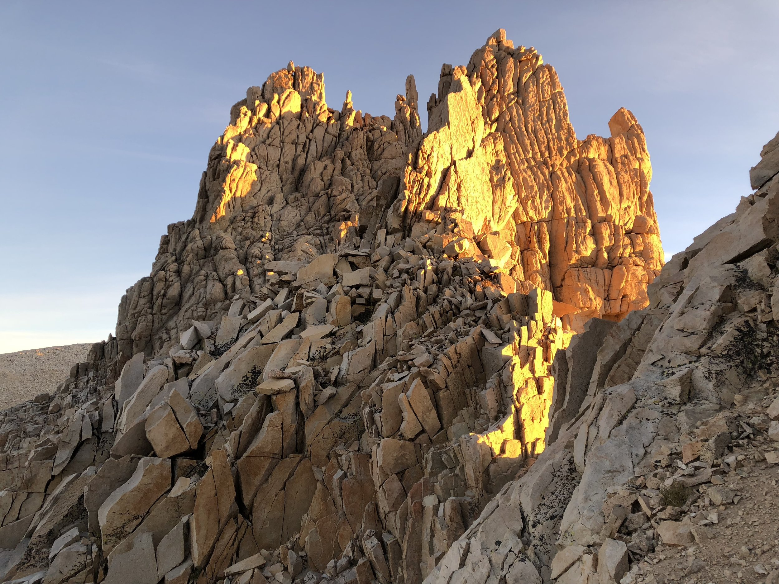Sunrise view behind mt whitney.JPG
