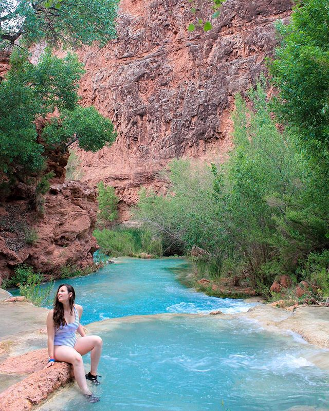 "On the hike into Havasupai, quite a few hikers that were hiking out tried to give me grief for being ""a solo girl."" But regardless of your gender, you shouldn't be afraid to go solo. It's an incredibly rewarding experience. It lets you focus on you, on your own pace and itinerary, to spend time with yourself, to reconnect with yourself while connecting with nature. I am fortunate to have an incredible group of hiking friends who are some of the most inspirational and badass people I've met, but sometimes you just gotta do you and fly solo. And true, it can be completely scary. Even though I've been on road trips solo many times, my head was running me through everything that could possibly go wrong as I was driving in. I just had to try to control my thoughts and focus on the experience rather than the what if's. The what if's can happen even in a group, so being prepared in the wilderness is essential. Once I got to the trail and strapped on my backpack, I felt right at home even though this was my first time here. For more tips on going solo, read through my blog post, link in bio."