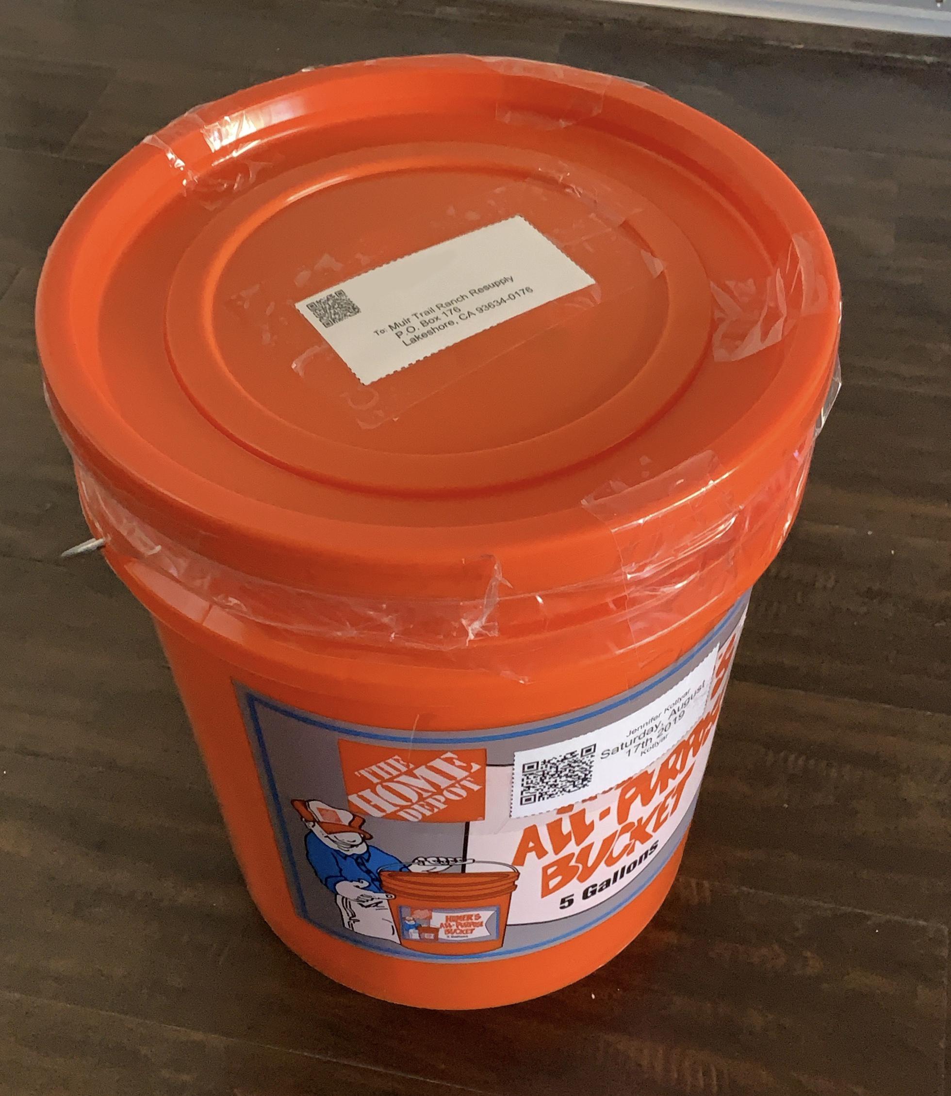 Muir Trail Ranch bucket resupply