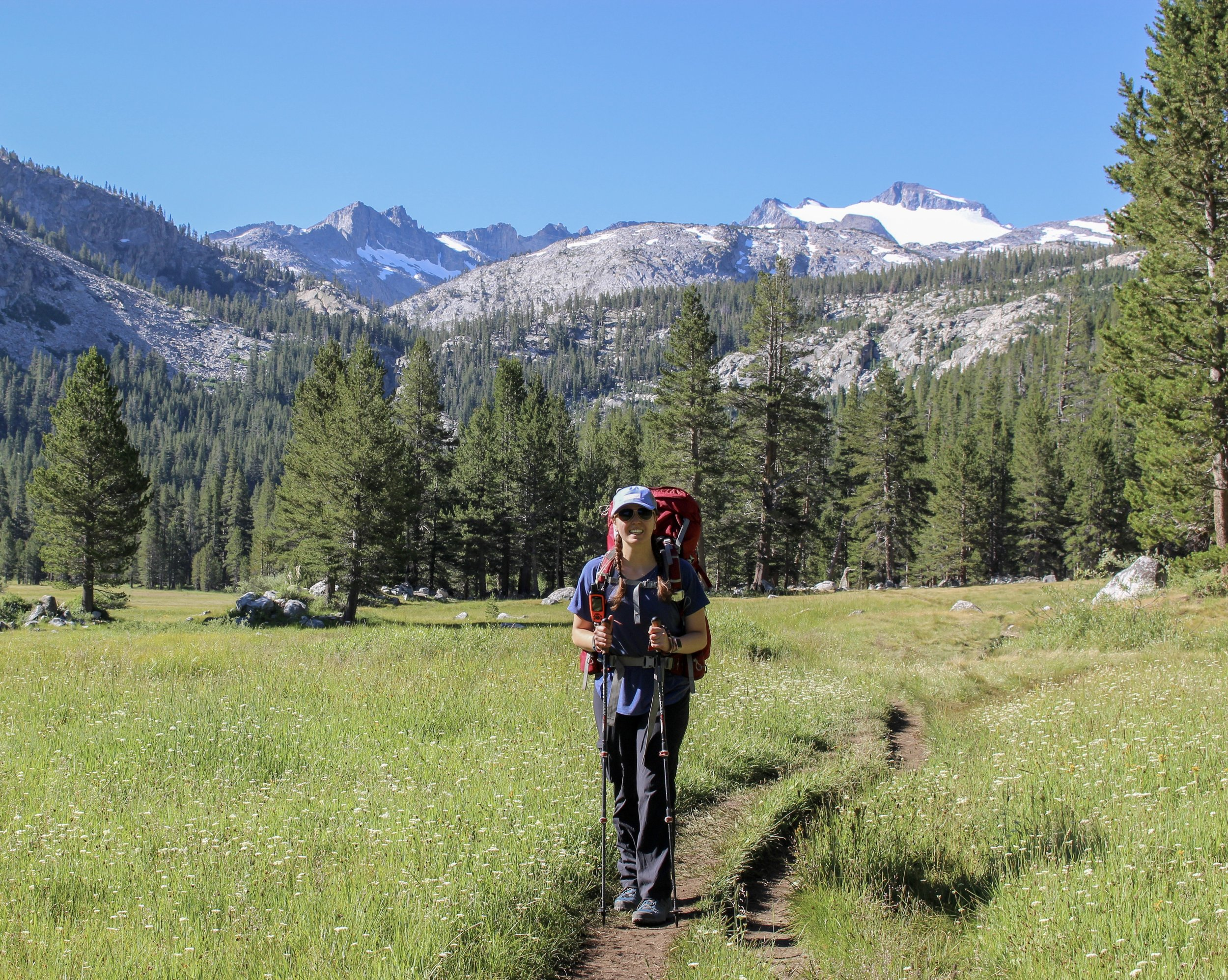 John Muir Trail at Tuolumne Meadow