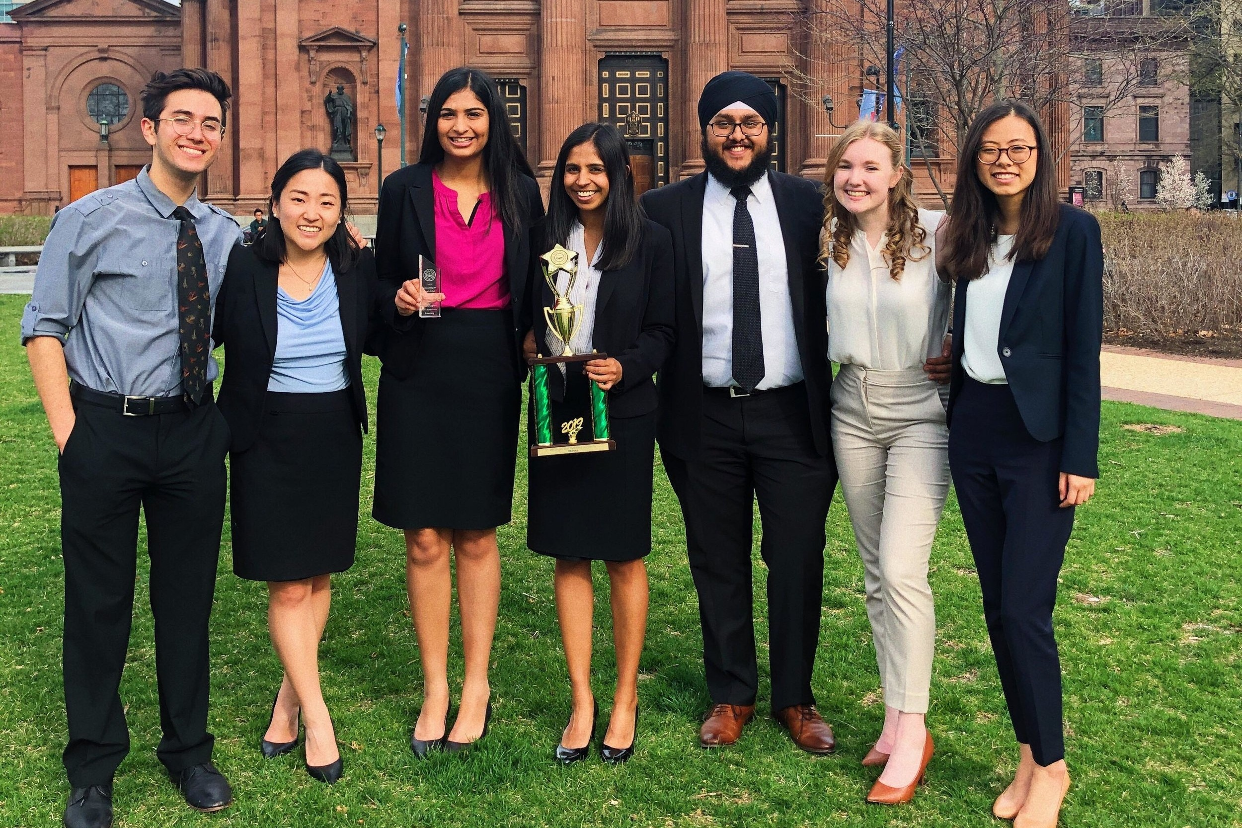 National Championship (4/5-4/7) - It was an amazing weekend in Philly for Cal Mock Trial. Berkeley A won 9th place in the Guliuzza Division of the 2019 National Championship Tournament, finishing the tournament with 10 wins and the Spirit of AMTA Honorable Mention. Special shoutout to our newest All-American Attorney Fatima Hasanain, who finished her senior season with 33/40 ranks on the Plaintiff!It was a record breaking season and we couldn't be prouder of our program. Watch out for Cal Mock Trial next year.