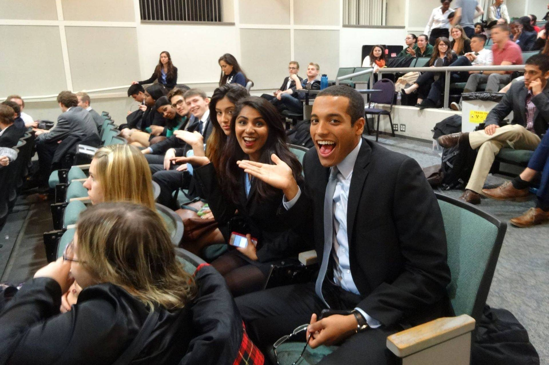AAMTI (11/8 - 11/9) - Cal Mock Trial kicks off the year strong, competing at our own Inaugural Average American Mock Trial Invitational (AAMTI)! Our two teams took 2nd Place (with a record of 6-2) and 6th Place (with a record of 5-3) overall! Congrats to the following members who also took home 4 individual awards...Bobbie Dousa, Outstanding Witness with 18/20 ranks.Vaughn Okerlund, Outstanding Witness with 18/20 ranks; his first college mock trial career award!Nisha Srinivasa, Outstanding Witness with 18/20 ranks AND Outstanding Attorney with a perfect 20/20 ranks; her first college mock trial career awards AND her first college mock trial career competition!