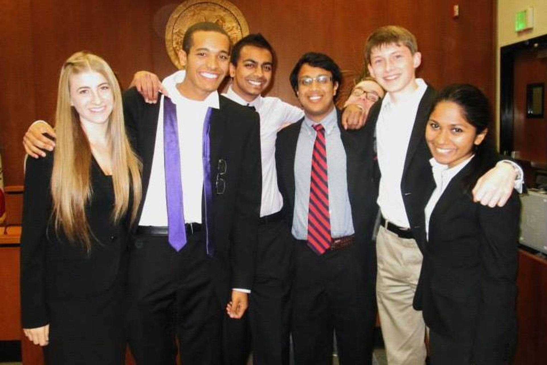Beach Party Invitational (11/23 - 11/24) - Cal Mock Trial sent two teams to Irvine, California, to take part in one of the nation's most competitive fall invitationals. The teams faced opponents such as Furman University, New York University, Northwestern University, and Brown University. This tournament marked the debut of seven of CMT's eleven new members, and we couldn't have been more excited to welcome them to collegiate mock trial. Additionally, team member Brandon Thomas was recognized with an individual award for receiving a total of 29 ranks.