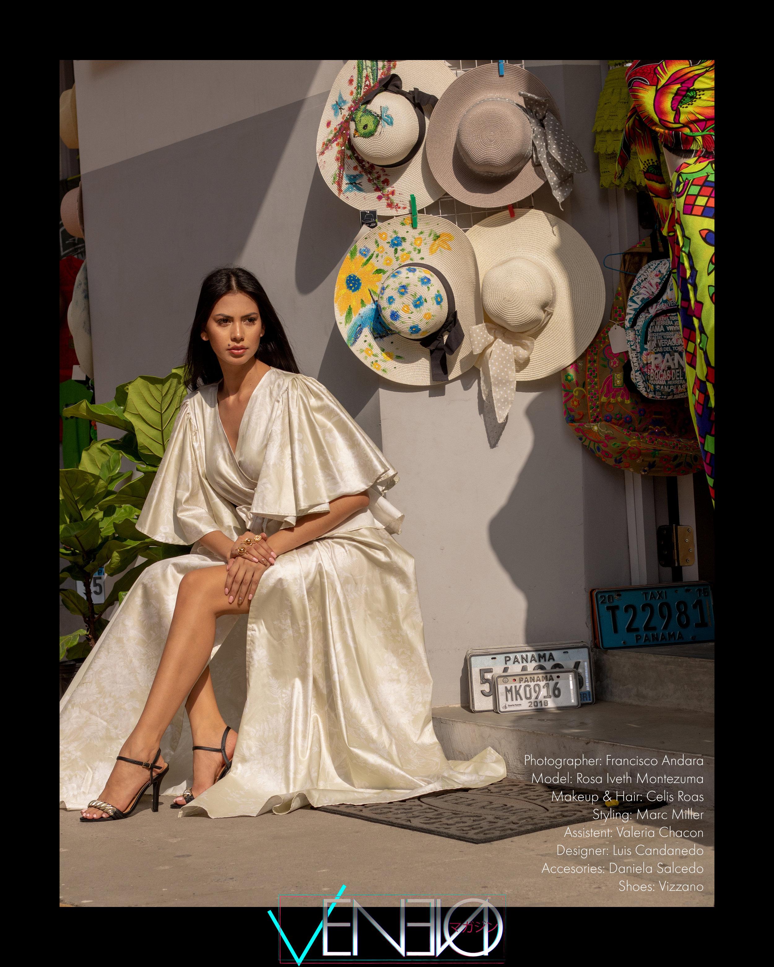 Dress: Luis Candanedo  @luis_candanedo  Accessories: Daniela Salcedo  @ds_danielasalcedo  Shoes: Vizzano  @vizzano_oficial