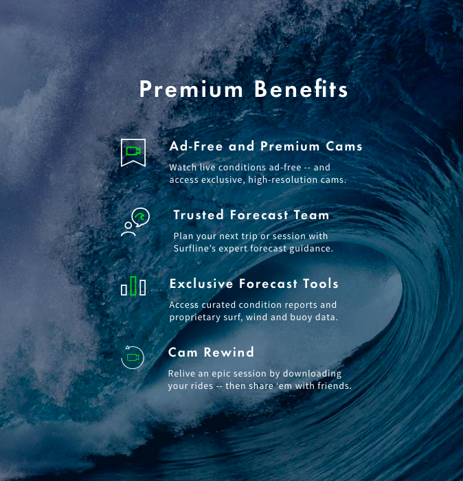 Try Surfline Premium - Ad-free webcams, longer forecast and webcam rewind and downloads.