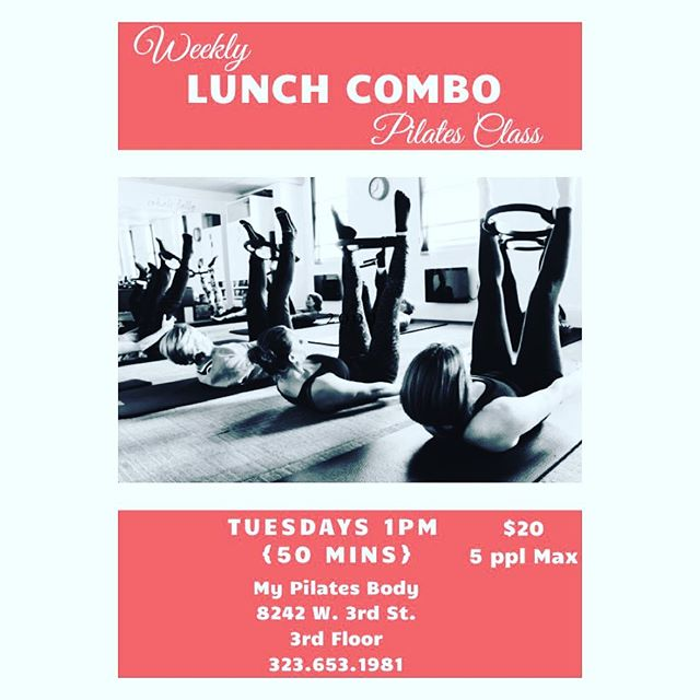 Heather is ready to give you a quickie at lunch 😉 And she's probably going to get mad that I said that! Haha love you, Heather! She's going to mix it up on different pieces of equipment for a great workout on your lunch hour. Taught in a small group of 5 ppl MAX for individual attention. Call to sign up! Hope to see you Tuesday!