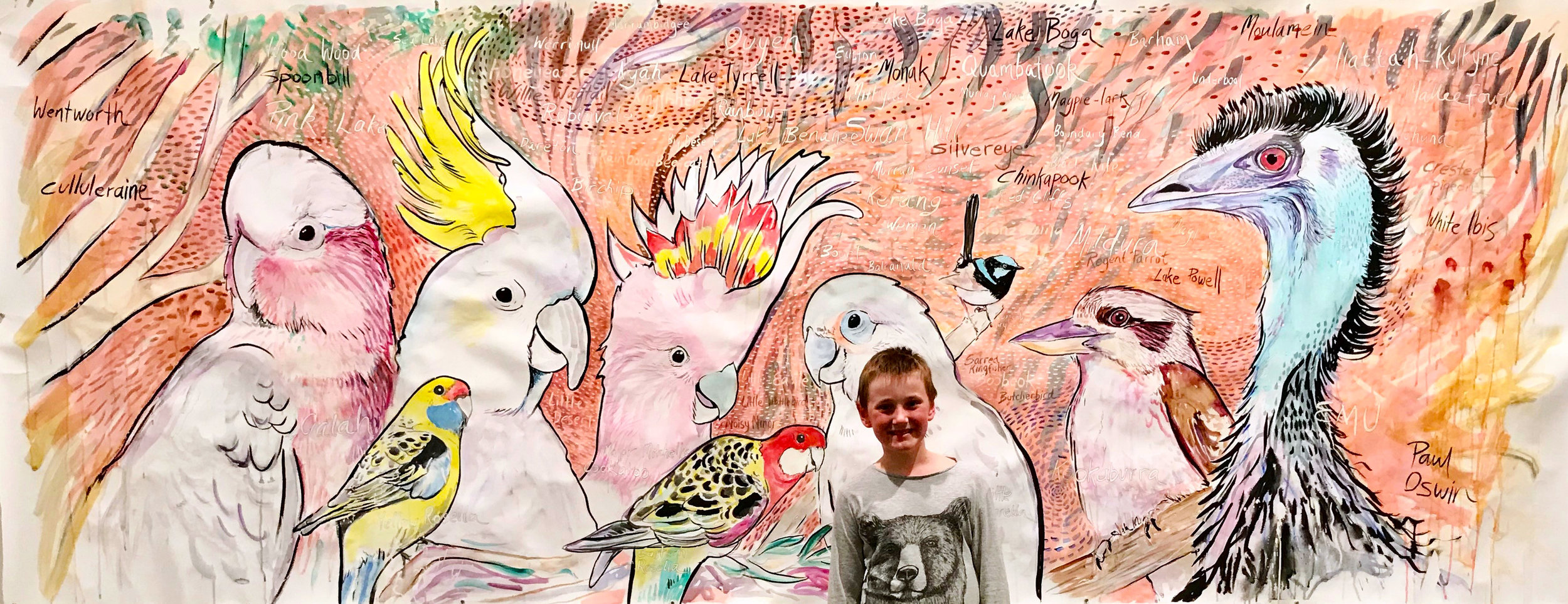 Mallee Birds and Max at the Swan Hill Regional Art Gallery
