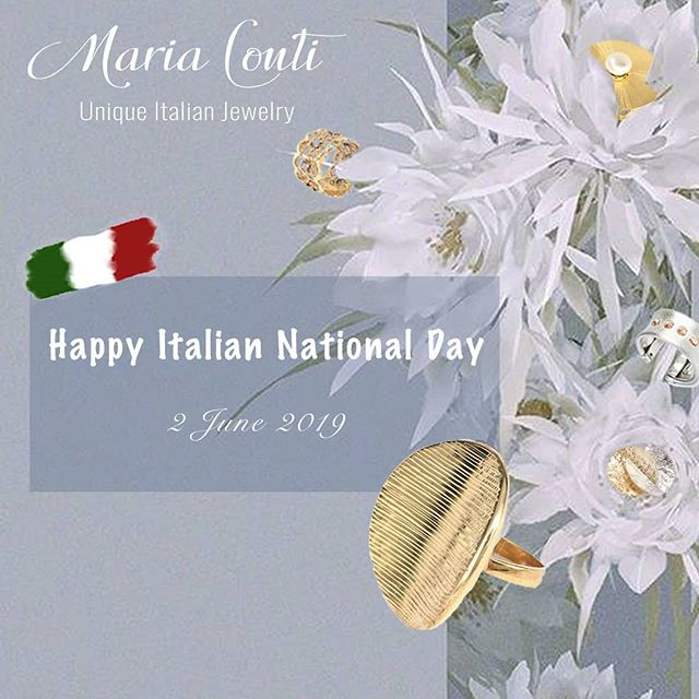 Happy Italian National Day! #italianjewelry #italiandesign #iloveitaly #italiansdoitbetter #artanddesign #Italy