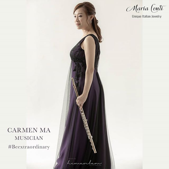 Carmen Ma is an extraordinary woman! #beextraordinary #music #flutist #italiandesign #jewelry #silverjewelry #beunique #oneofakind #glamorous #passion