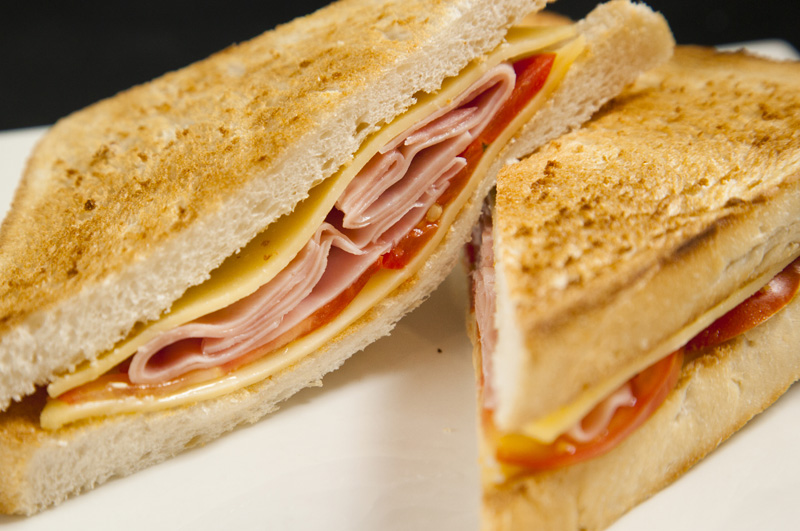 Ham, Cheese & Tomato Sandwich