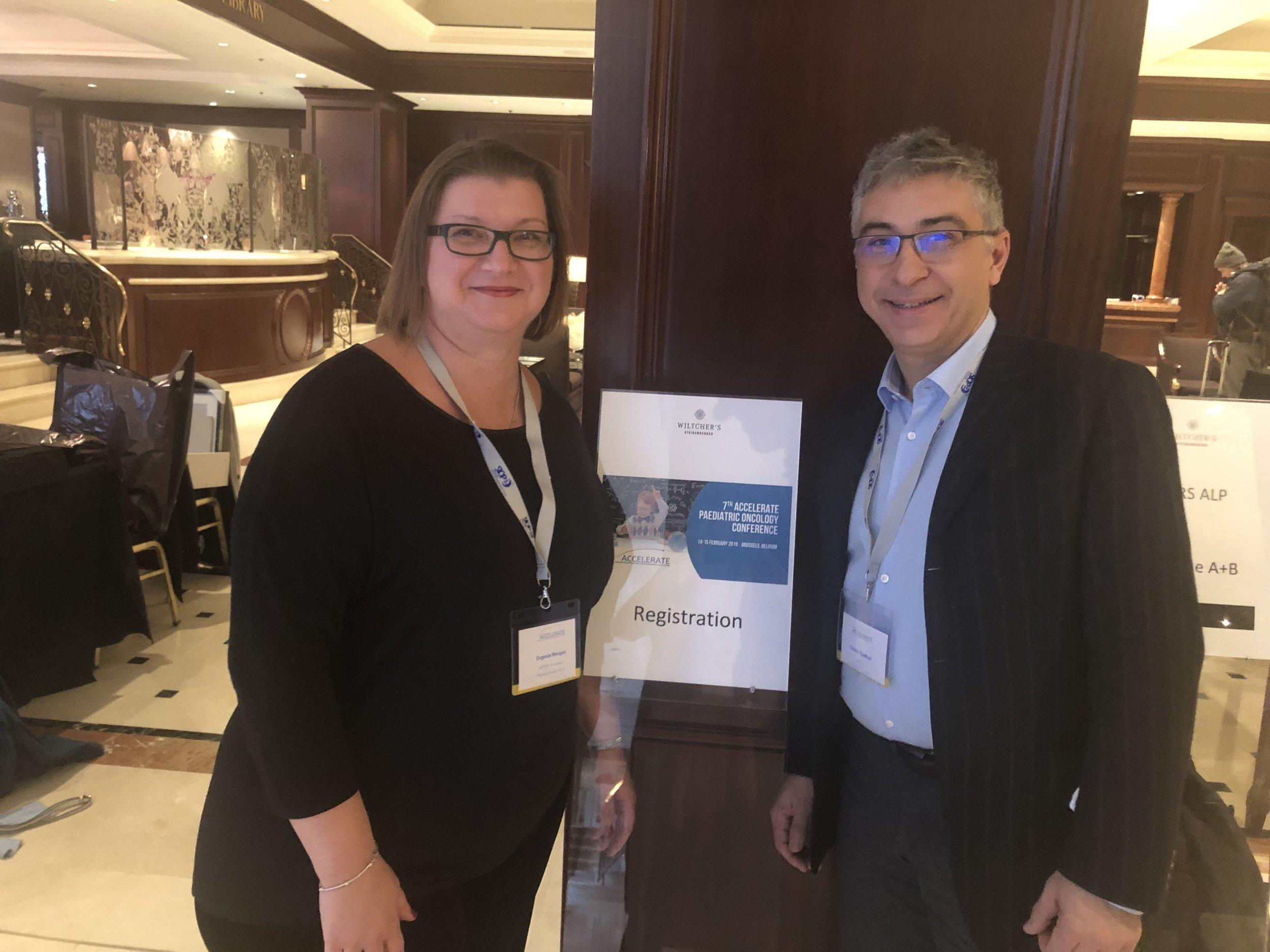 Trustees Dr Cesare Spadoni and Evie Mengou