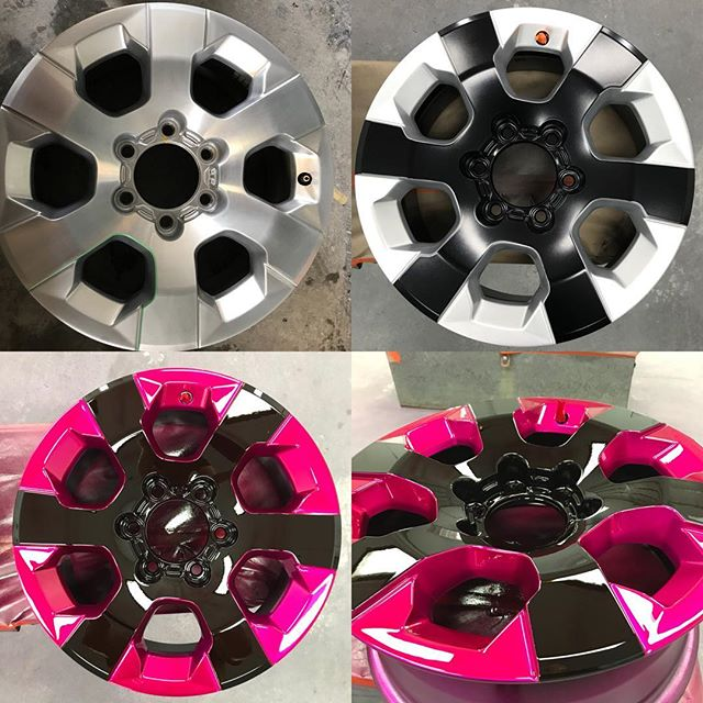 Hot Wheels by #thebumperdoctor Candy hot pink and black gloss finish. How would you like your wheels to look?