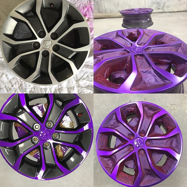 Precision masking to deliver an exquisite finish. #customwheels #thebumperdoctor #custommags