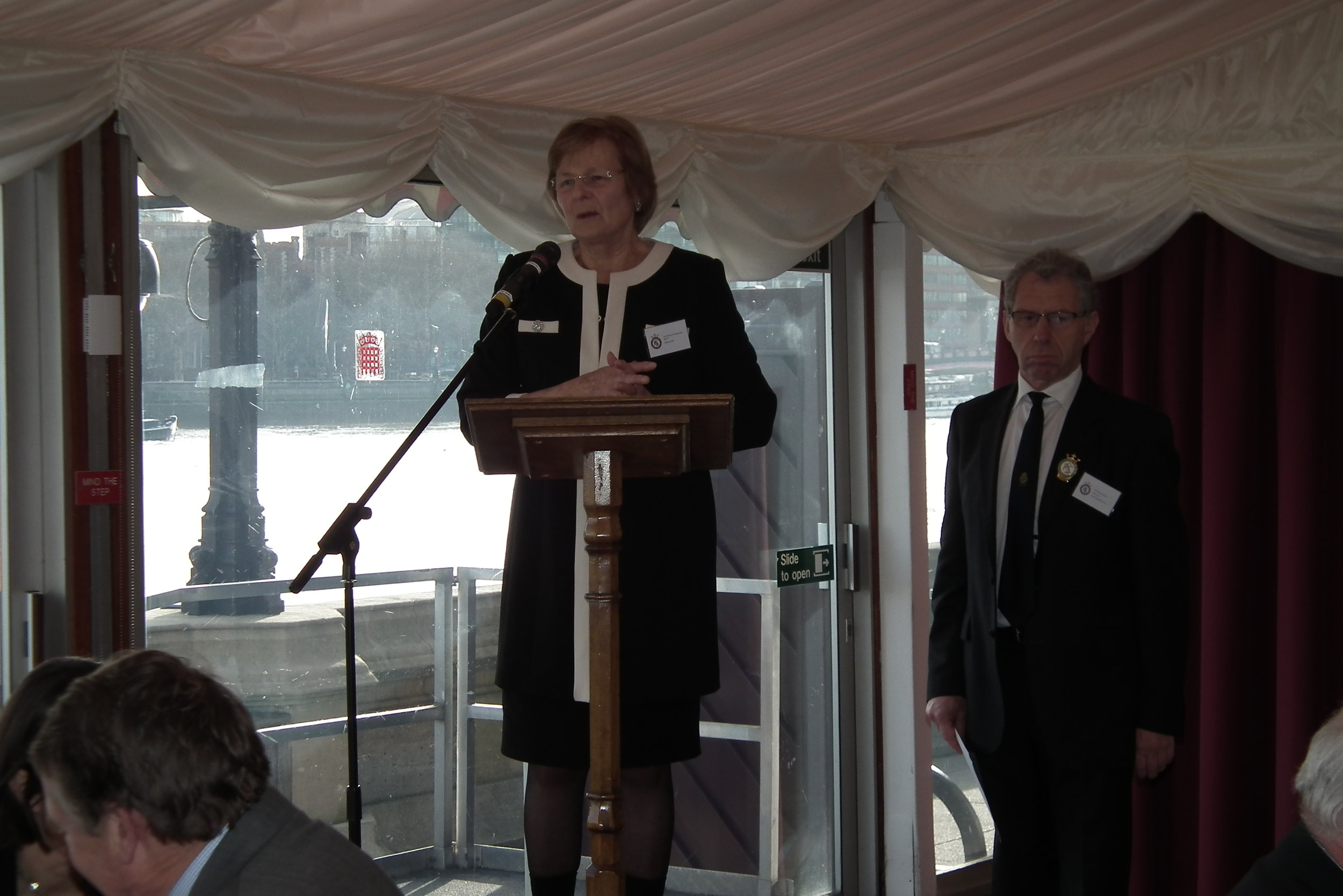 Baroness Byford opens the Smithfield Forum pictured alongside William Bedell Club Chairman