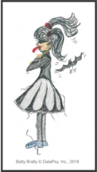 Meet Batty Bratty - illustration by Christi Genet