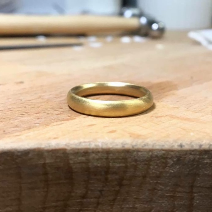 22ct Recycled Yellow gold Wedding Band