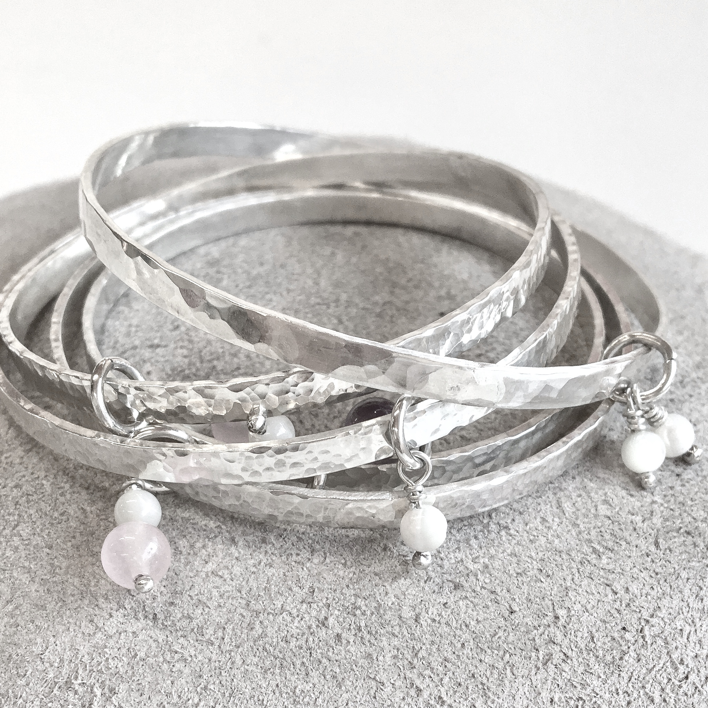 Make your own sterling silver bangle workshop - £75 -