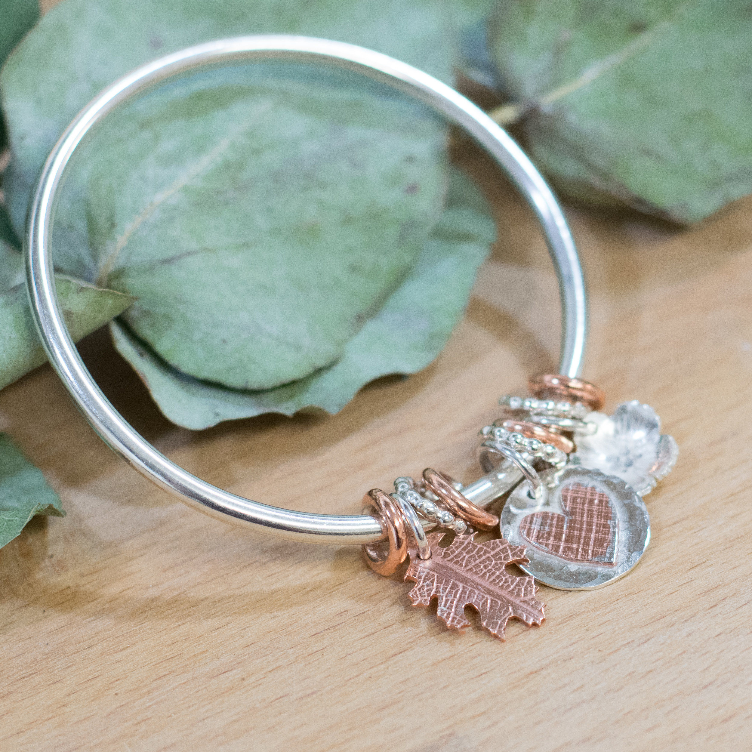 Make your own charm bangle workshop - £150 -