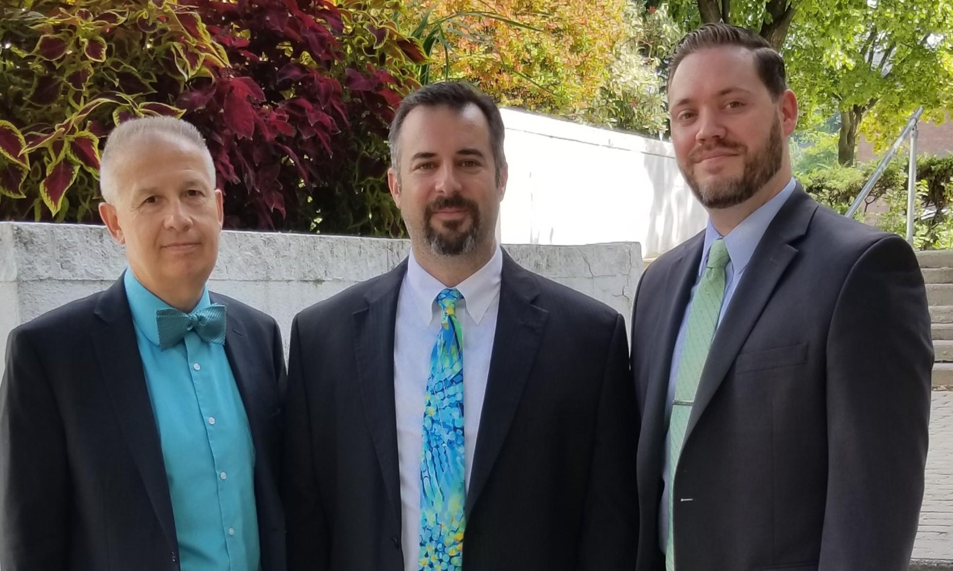 Current partners from left to right: Ronald Bissonnette, Daniel D'Auteuil Jr., Jason Dionne
