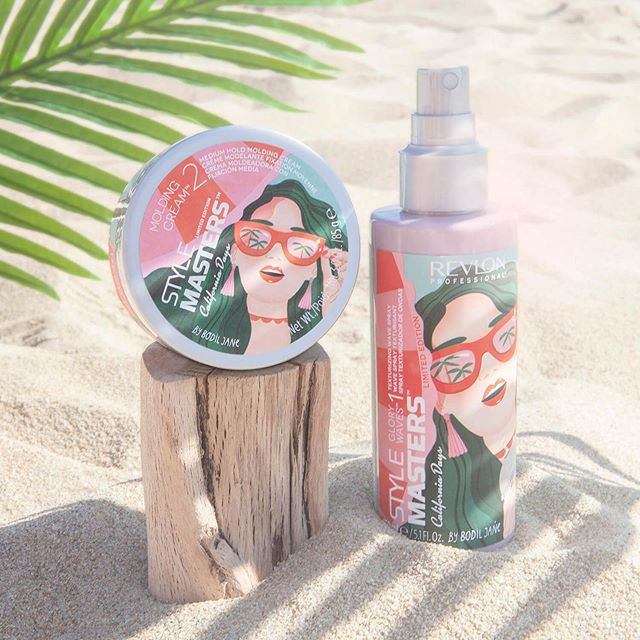Packaging for Style Masters California Days by @revlon / @revlonprofessional 🌴🌞🏄🏻‍♀️💦 available at your local hairdresser within a few weeks 🍒 Thanks to @planta16_agency and of course @folioart 🇺🇸