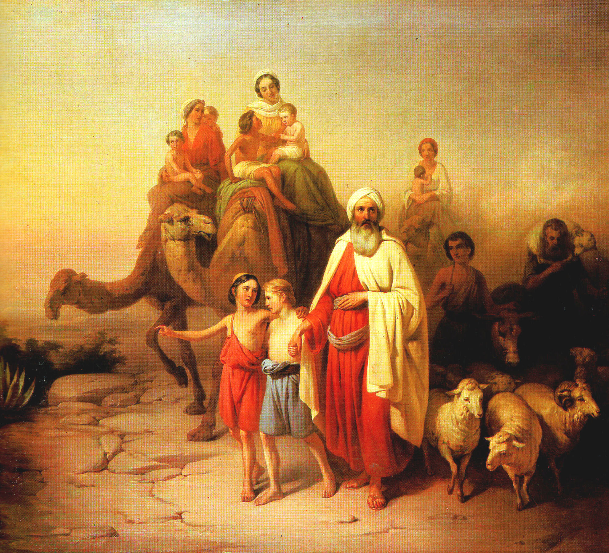 Jozsef Molnar, Abraham's Journey from Ur to Canaan  (1850, courtesy of the  Hungarian National Gallery )