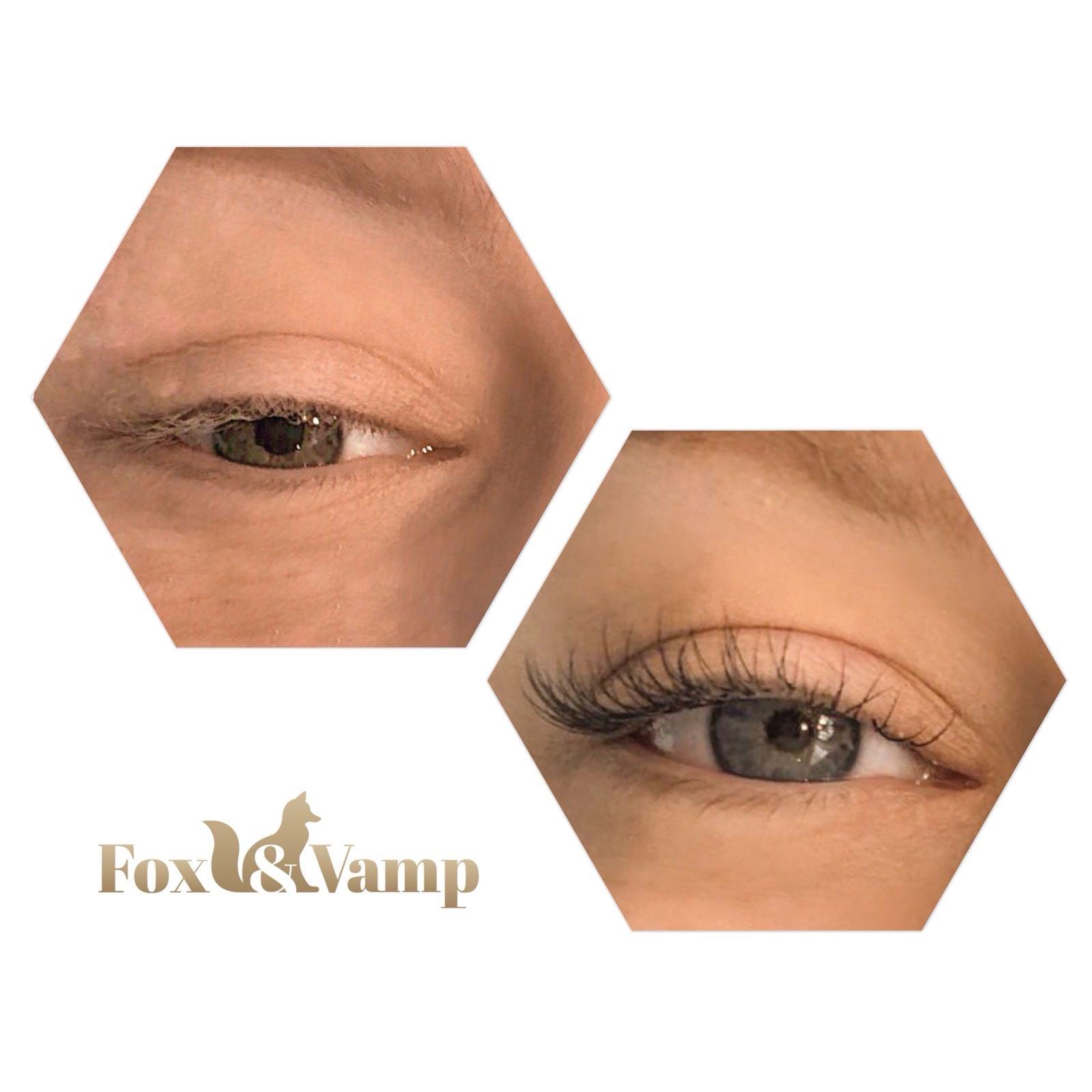 Natural Volume eyelash extensions