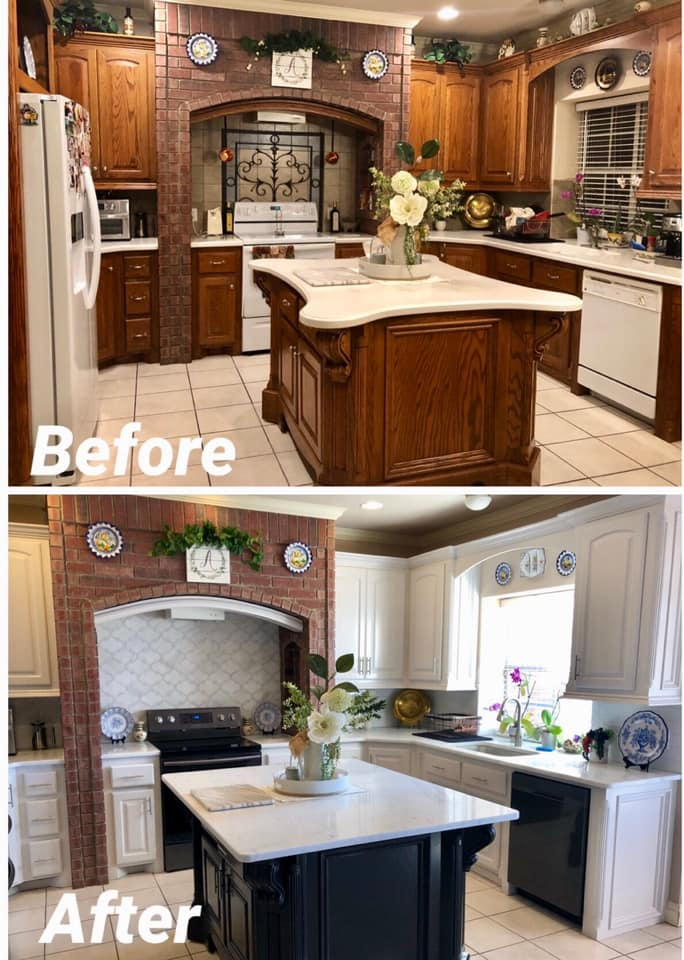 White cabinets makes this kitchen POP!