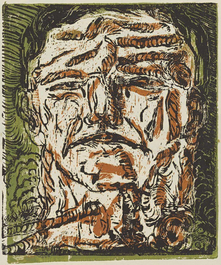Georg Baselitz, Großer Kopf (Large Head), 1966 © Georg Baselitz Photo: Jochen Littkemann, Berlin