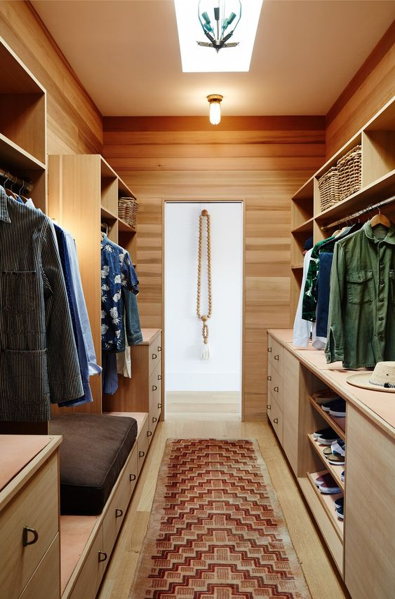 Robert McKinley's cedar-lined walk-in closet ready for an attack.